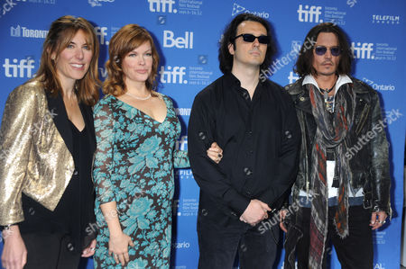 Amy Berg, Lorri Davis, Damien Echols and Johnny Depp