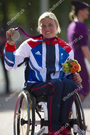 Shelly Woods, winner of the Silver medal in the Women's Marathon