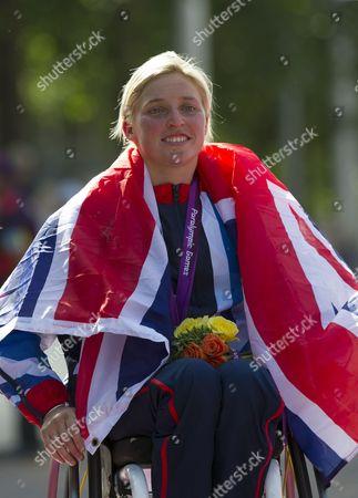 Shelly Woods, winner of the Women's Marathon