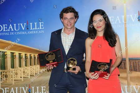 Directors Lucy Mulloy and Benh Zeitlin pose with their trophies