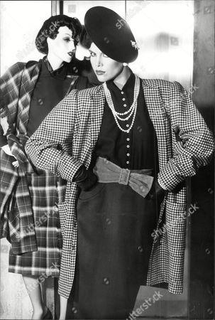 Fashion Women 1979 Model On Catwalk Wearing Wendy Dagworthy Fashions.