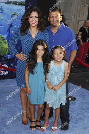 Maria Canals-Barrera, husband David Barrera, daughters Bridget and Madeleine