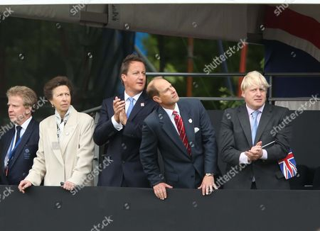 Colin Moynihan, Princess Anne, David Cameron, Prince Edward and Boris Johnson