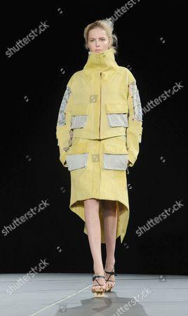 Stock Photo of Model on catwalk