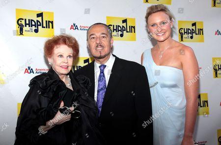 Arlene Dahl, Marc Rosen, and guest
