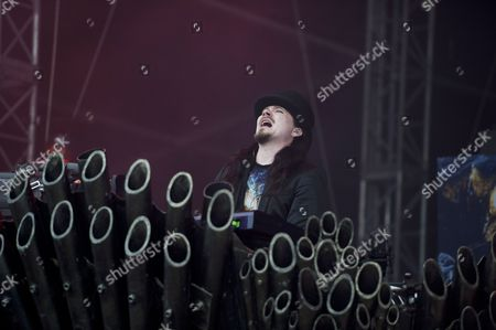 Donington United Kingdom - June 8: Keyboardist Tuomas Holopainen Of Finnish Symphonic Metal Group Nightwish Performing Live On The Zippo Encore Stage At Download Festival On June 8