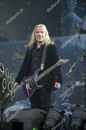 Donington United Kingdom - June 8: Guitarist Emppu Vuorinen Of Finnish Symphonic Metal Group Nightwish Performing Live On The Zippo Encore Stage At Download Festival On June 8