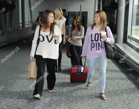 Editorial photo of The girlfriends and wives of band Mcfly fly out of Heathrow Airport to New York for a reunion, London, Britain - 12 Sep 2012