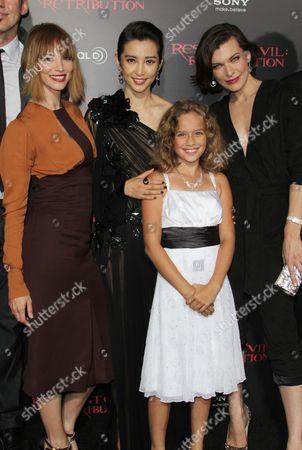 Stock Image of Sienna Guillory, Li Bingbing, Aryana Engineer and Milla Jovovich