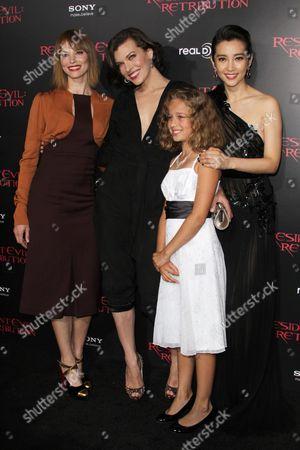 Sienna Guillory, Li Bingbing, Aryana Engineer and Milla Jovovich