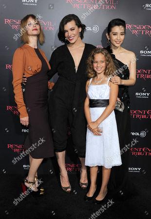 Sienna Guillory, Li Bingbing, Milla Jovovich and Aryana Engineer
