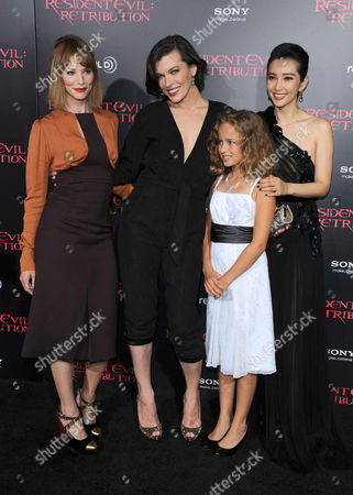 Stock Photo of Sienna Guillory, Li Bingbing, Milla Jovovich and Aryana Engineer