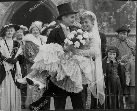 Stock Image of Film: Wedding From The Past Denholm Elliott And Susan Stephen.