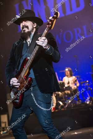 London United Kingdom - June 3: Johnny Colt Of American Rock Band Lynyrd Skynyrd Performing Live Onstage At The Hammersmith Apollo June 3