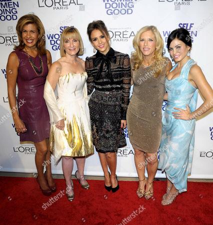 Hoda Kotb, Laura McEwen, Jessica Alba, Lucy Danziger and Jenna Dewan