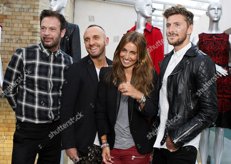 Andrew and Andrew Fionda (designer), Marc Hayes (fashion expert), Louise Redknapp and Henry Holland