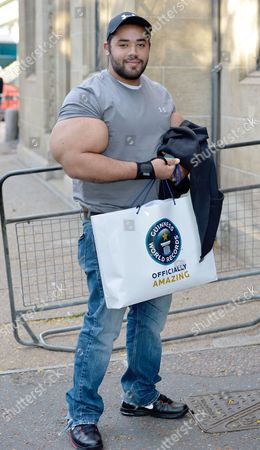 Moustafa Ismail, who has the largest biceps in the world