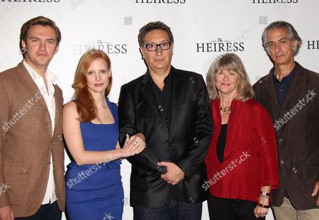 Dan Stevens, Jessica Chastain, Moises Kaufman, Judith Ivey and David Strathairn