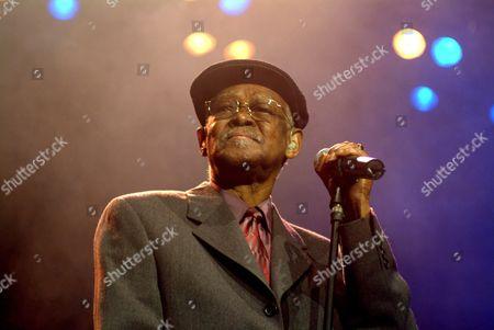 Stock Picture of Cuban musician Ibrahim Ferrer, Buena Vista Social Club, during a concert in Innsbruck, Austria