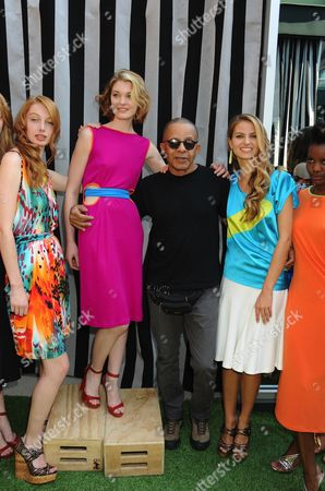 Stephen Burrows with models
