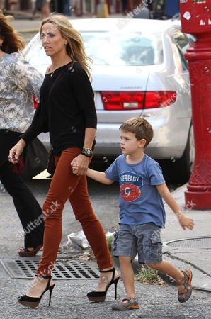 Stock Image of Sheryl Crow and her son Wyatt Steven Crow