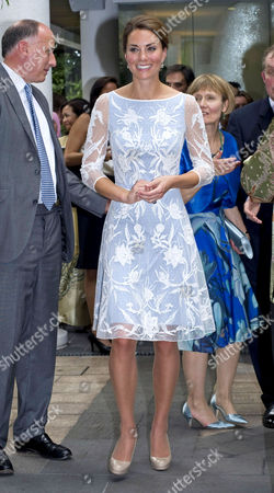 Jamie Lowther-Pinkerton and Catherine Duchess of Cambridge - tea party at the British High Commission Residence