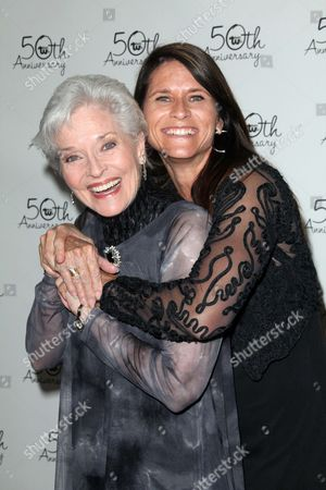 Stock Photo of Lee Meriwether and Lesley Aletter