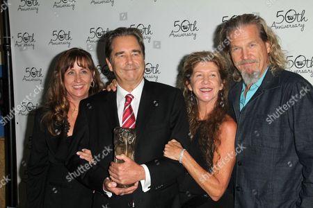 Stock Photo of Wendy Bridges, Beau Bridges, Lucinda Bridges and Jeff Bridges