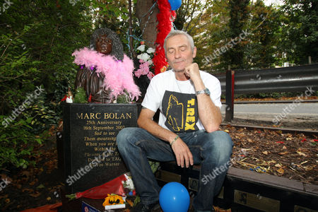 Fan Tony Logan remembers glam rock legend Marc Bolan at the site of his death in a car crash