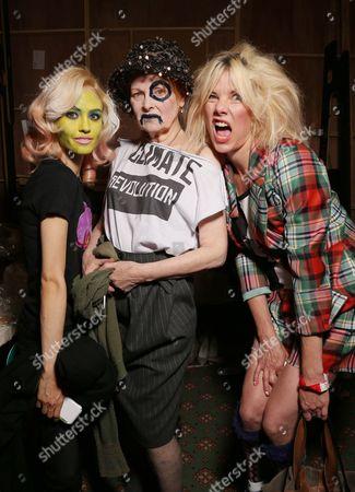 Vivienne Westwood, Sara Stockbridge and model backstage