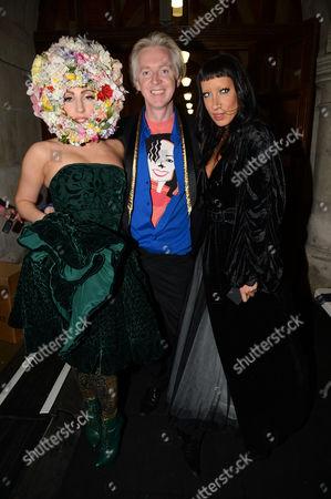 Lady Gaga, Philip Treacy and Ronnie Sassoon