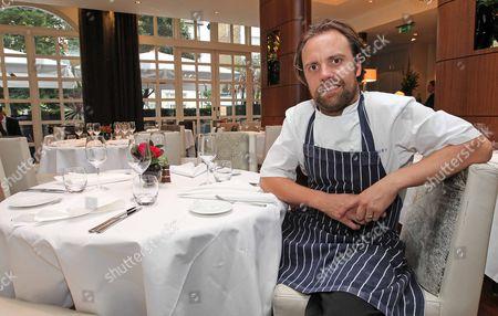 Brett Graham Chef At The Ledbury Restaurant In Notting Hill. Picture By: Nigel Howard Email: Nigelhowardmediaatgmail.com.