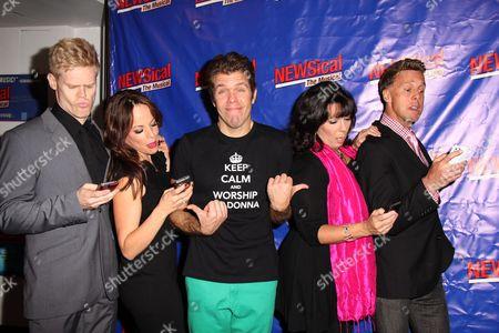 Stock Photo of Tommy Walker, Leslie Kritzer, Perez Hilton, Christine Pedi, Michael West