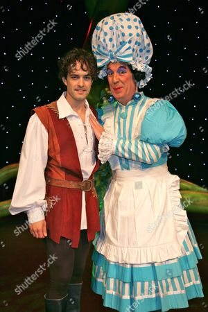 Lee Mead as Jack and Jeffrey Holland as Dame Trot