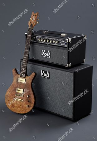 Bath United Kingdom - March 26: A Vanquish Legend Oli Brown Electric Guitar And Volt Amp Co Super Overdrive Electric Guitar Amplifier Owned By British Blues Guitarist And Singer-songwriter Oli Brown Photographed During A Shoot For Guitarist Magazine March 26