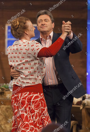 Stock Photo of Ruth Goodman and Alan Titchmarsh