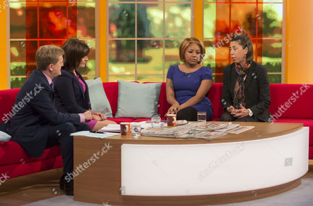 Stock Picture of Aled Jones, Lorraine Kelly and Taylah-Nicole Douglas