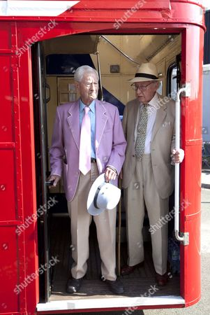 Frank Thorne And Bill Pertwee. British Stars Of Stage And Screen Join The Cast For The Last Day Of Filming Of Run For Your Wife At The Wimbledon Film Studios.