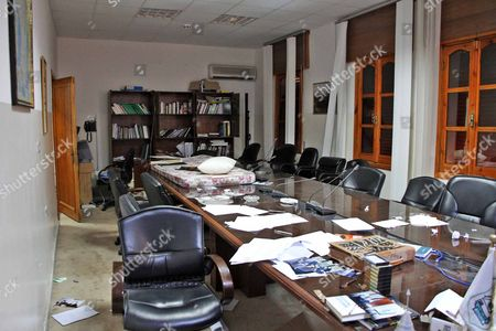 Editorial photo of Inside The Offices Of The Foreign Intelligence Agency Run By The Defected Moussa Koussa In Tripoli Libya.