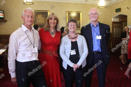 Lunchtime Summit On Bowel Cancer At The House Of Lords With Lynn Faulds Wood (red Dress) And Three Un-named Doctors.