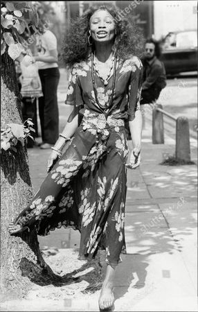 Editorial photo of Fashion Women 1975 Glenna Forster Jones Wearing Antique Dress.