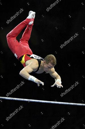 Fabian HAMBUeCHEN GER at the Gymnastics World Cup in Stuttgart 2006 at high bar