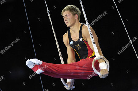 Artistic Gymnastics Fabian HAMBUeCHEN GER on rings Artistic Gymnastics World Championships 2007 Stuttgart Baden-Wuerttemberg Germany