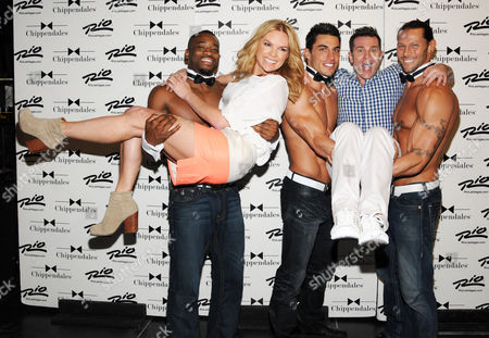 Sonia Kruger and David Campbell and Chippendales