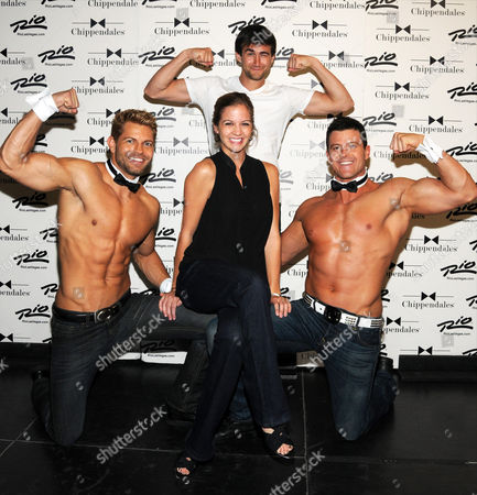 Editorial image of David Campbell and Sonia Kruger celebrity guests at Chippendales at the Rio, Las Vegas, America - 19 Sep 2012