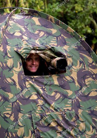Martin Cooper in his hide