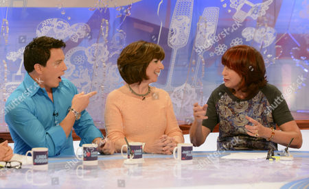 Stock Image of John Barrowman and Carole Barrowman and Janet Street-Porter