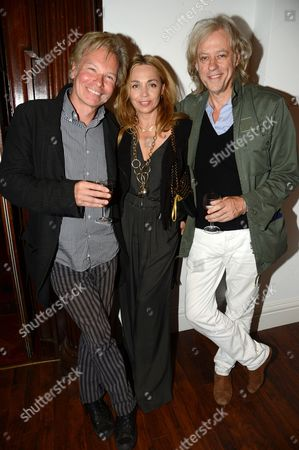 Julian Temple, Jeanne Marine and Bob Geldof