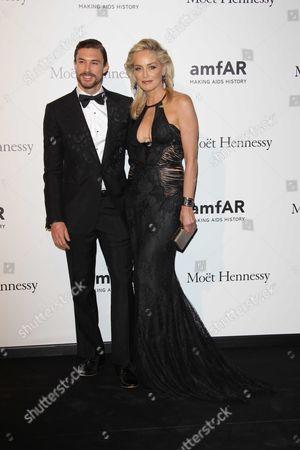 Martin Mica and Sharon Stone