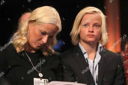 Crown Princess Mette-Marit of Norway and Marius Borg Hoiby